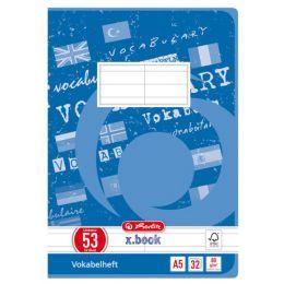 herlitz Vokabelheft x.book, DIN A5, 2-spaltig, 32 Blatt