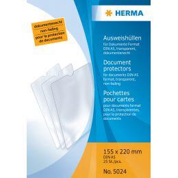 HERMA Ausweishülle, PP, 1-fach, 0,14 mm, Format: 52 x 75 mm