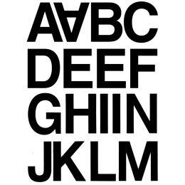 HERMA Buchstaben-Sticker A-N, Folie schwarz, 33 mm