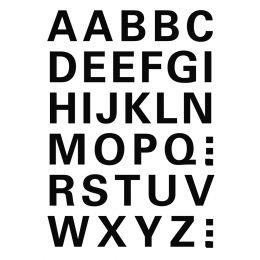 HERMA Buchstaben-Sticker A-Z, Folie schwarz, 15 mm hoch
