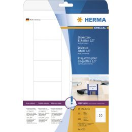 HERMA Disketten-Etiketten 3,5 SPECIAL, 70 x 67,7 mm, weiß