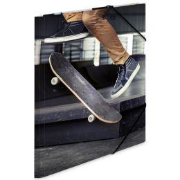 HERMA Eckspannermappe Skateboard, aus Karton, DIN A4