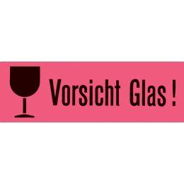 HERMA Hinweisetiketten Vorsicht Glas, 39 x 118 mm