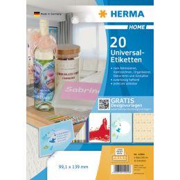 HERMA HOME Universal-Etiketten, 210 x 297 mm, weiß