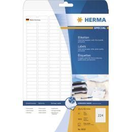 HERMA Inkjet-Etiketten SPECIAL, 83,8 x 50,8 mm, weiß