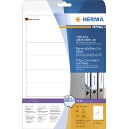 HERMA Ordnerrücken-Etiketten SPECIAL, 38 x 297 mm, weiß