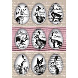 HERMA Oster-Sticker TREND Eierhasen