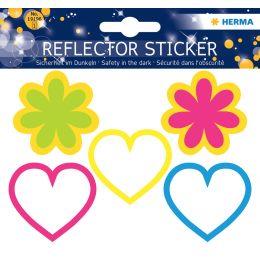 HERMA Reflektorsticker Herzen + Blumen