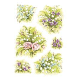 HERMA Sticker DECOR Blumensträuße Maiglöckchen