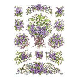HERMA Sticker DECOR Blumensträuße Veilchen