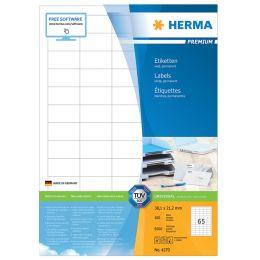 HERMA Universal-Etiketten PREMIUM, 70 x 42,3 mm, weiß