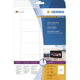 HERMA Video-Etiketten SPECIAL, 78,7 x 46,6 mm, weiß