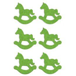 HERMA Weihnachts-Sticker DECOR Filz Schaukelpferd, grün