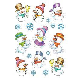 HERMA Weihnachts-Sticker DECOR Schneemänner