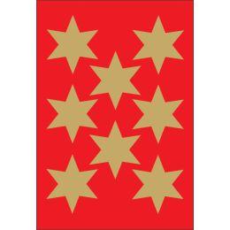HERMA Weihnachts-Sticker DECOR Sterne, 33 mm, gold