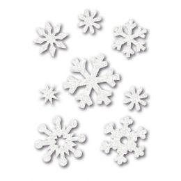 HERMA Weihnachts-Sticker MAGIC Filz Eiskristalle, weiß