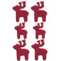 HERMA Weihnachts-Sticker MAGIC Filz Elche, rot