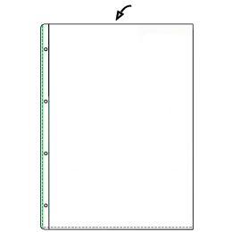 HETZEL Prospekthülle Standard, A6, PVC, genarbt, 0,08 mm