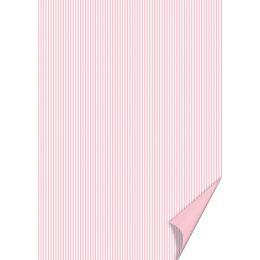 HEYDA Bastelkarton Happy Papers Linien, DIN A4, rosa