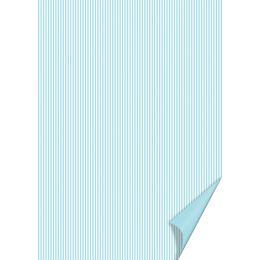 HEYDA Bastelkarton Happy Papers Linien, DIN A4, hellblau
