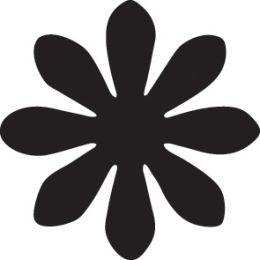 HEYDA Motiv-Locher Blume I, groß, Farbe: blau