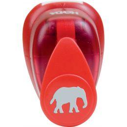 HEYDA Motiv-Locher Elefant, klein, Farbe: rot