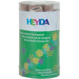 HEYDA Motivstempel-Set Mix & Match Blüten & Blätter