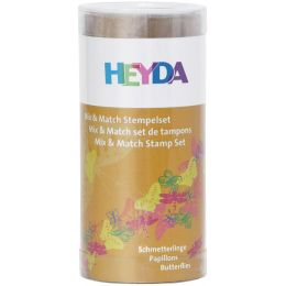HEYDA Motivstempel-Set Mix & Match Schmetterlinge