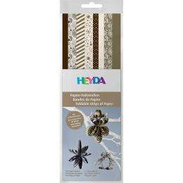 HEYDA Papier-Faltstreifen Christmas, gold/creme/braun