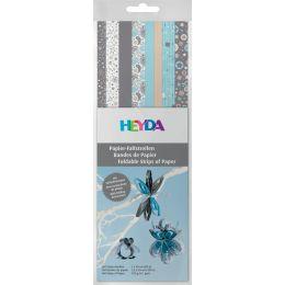 HEYDA Papier-Faltstreifen Christmas, silber/blau