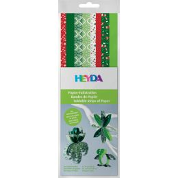 HEYDA Papier-Faltstreifen Christmas, rot/grün