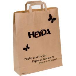 HEYDA Papier-Tragetasche, mit schwarzem HEYDA-Werbeaufdruck