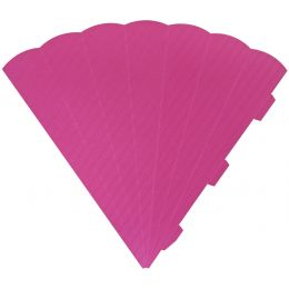HEYDA Schultüten-Zuschnitt, 6-eckig, 69 cm, pink