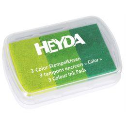 HEYDA Stempelkissen 3-Color, limone/hellgrün/dunkelgrün