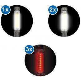 IWH LED-Taschenlampe COB Aluminium, mit 1 COB-LED