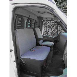 IWH Schutzbezug für Transporter-Autositze, 2-teilig, grau