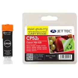 JET TEC wiederbefüllte Tinte CL52B ersetzt Canon CLI-521BK