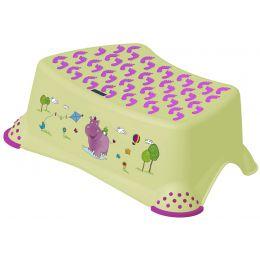 keeeper kids Tritthocker tomek hippo, grün mit Aufdruck