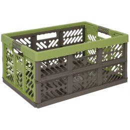 keeeper Profi-Klappbox ben, 45 Liter, PP, grün / taupe