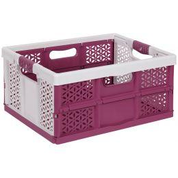 keeeper Profi-Klappbox lea, 32 Liter, PP, white / berry