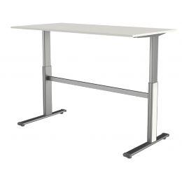 kerkmann Sitz-Steh-Schreibtisch Form 4, (B)1.600 mm, weiß