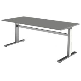 kerkmann Sitz-Steh-Schreibtisch Form 4, (B)1.800 mm, weiß