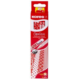 Kores Bleistift GRAFITOS, Härtegrad: HB, rot / weiß