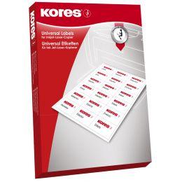Kores CD/DVD-Etiketten, Durchmesser: 117 mm, weiß, 100 Blatt