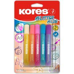 Kores Flüssigkleber Glitter Glue, Pastellfarben