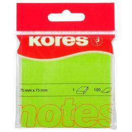Kores Haftnotizen NEON, 75 x 75 mm, blanko, neon-grün