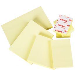Kores Haftnotizen notes, 50 x 40 mm, blanko, gelb
