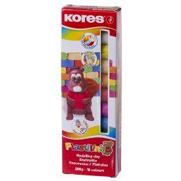 Kores Kinderknete PLASTILINA, 10 Farben in Faltschachtel