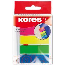 Kores Pagemarker - Folie, 12 x 45 mm, Neonfarben