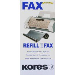 Kores Thermotransferrolle für brother Fax T72, 74, schwarz